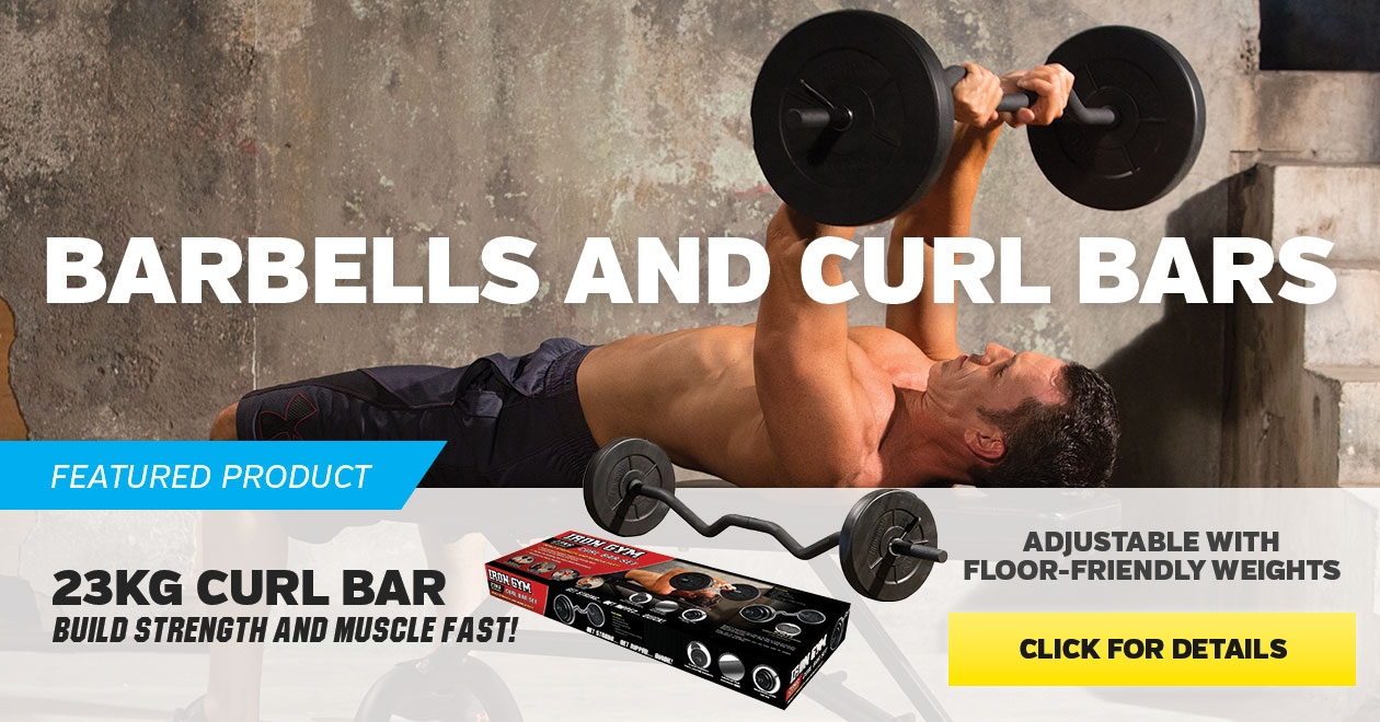 Featured product 23kg Curl Bar Set  - Click for more