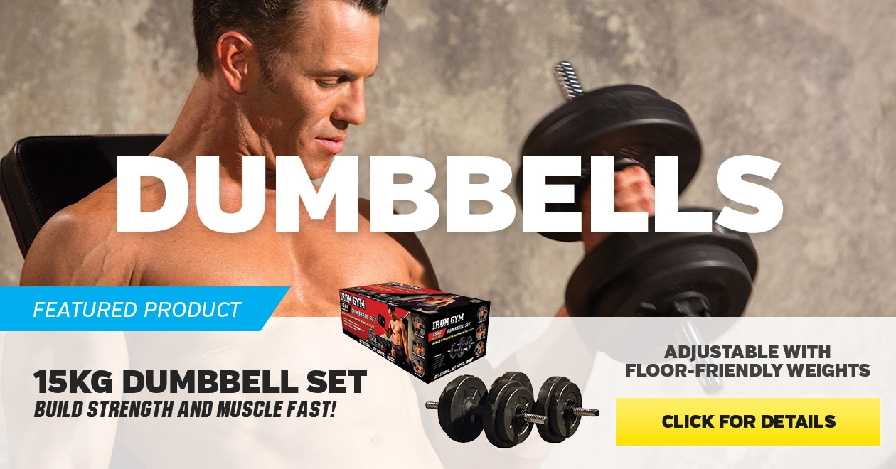 Featured product 15 kg Dumbbells Set - Click for more